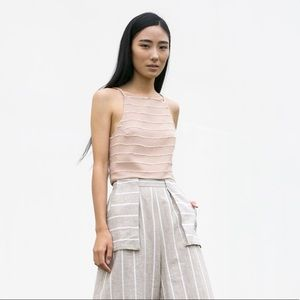Vivian Chan Lauren Top in Dusty Rose